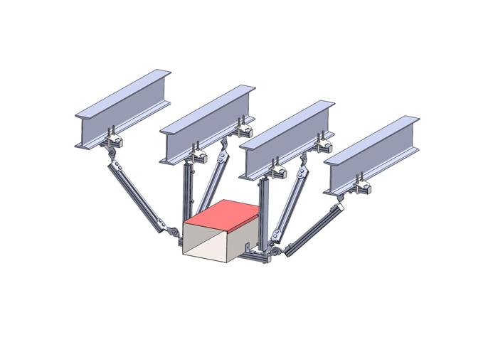单桥架侧纵向抗震支吊架钢结构安装